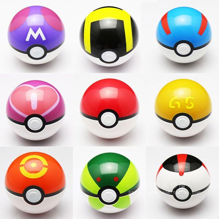 Pokemon Ball Figures ABS Anime Action Figures Pokemon pikachu PokeBall Toys Super Master Pokemon Ball Toys Pokeball Juguetes