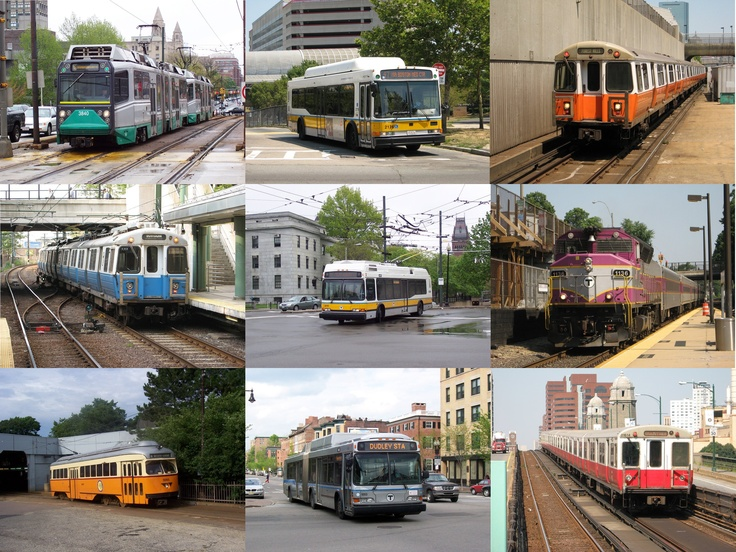 Green Blue  Yellow  Orange  Red Line Subway Trains  Buses