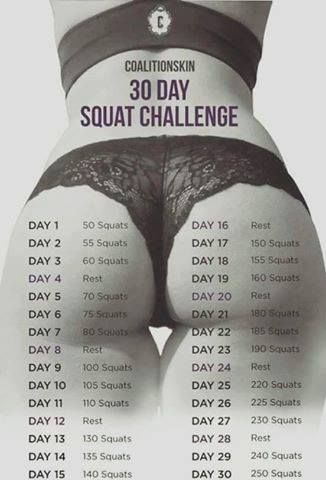 250 squats?! I can't imagine that.