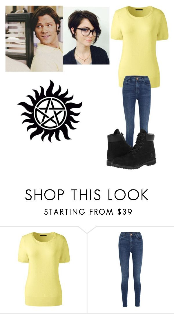 """Sam Winchester Inspiration OutFit"" by aquamarin-lover ❤ liked on Polyvore featuring Lands' End, J Brand and Timberland"