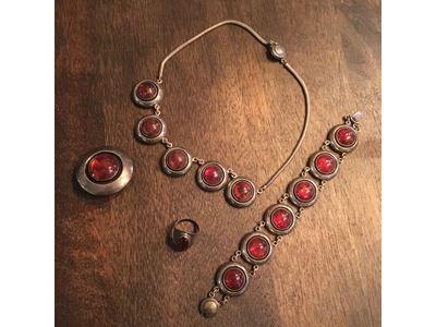 Smykkesæt, sølv, N.E. From