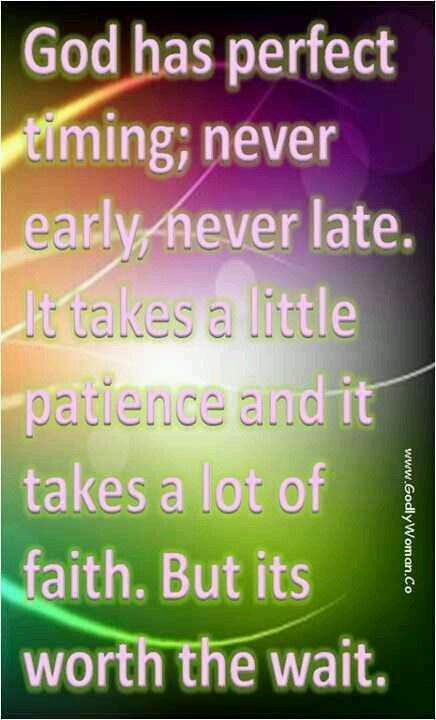 Gods timing!