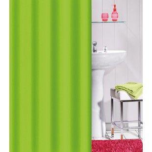 Rideau de douche Flashy uni couleur vert anis