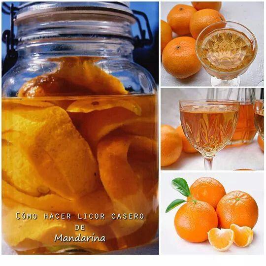 Licor casero de mandarina http://www.labioguia.com/como-hacer-licor-casero-de-mandarina/