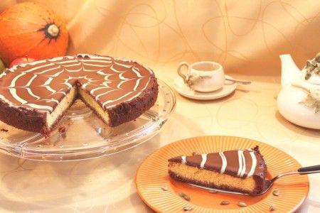 Tekvicový cheesecake s ganache z horkej čokolády
