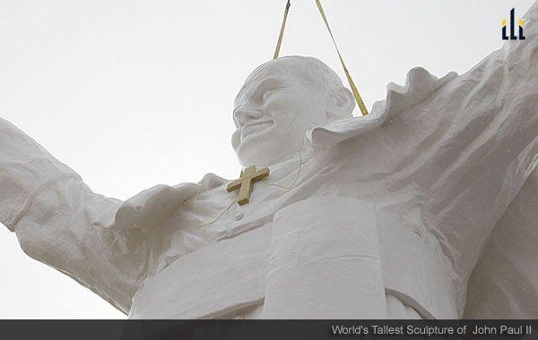 Worlds Tallest Sculpture of  John Paul II