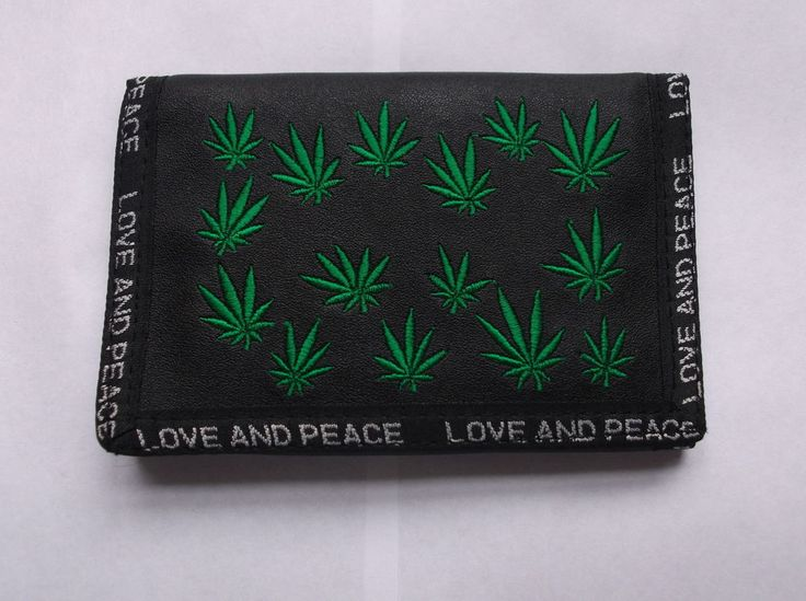 CHAIN WALLET Herb Marijuana Ganja Cannabis Reggae  LOVE AND PEACE