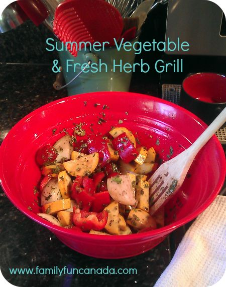 Super easy side dish using fresh herbs and mixed veggies.