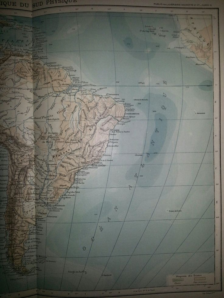 Netherlands Elevation Map%0A Antique Map of South America Physical      Large Map of South America    by     inches