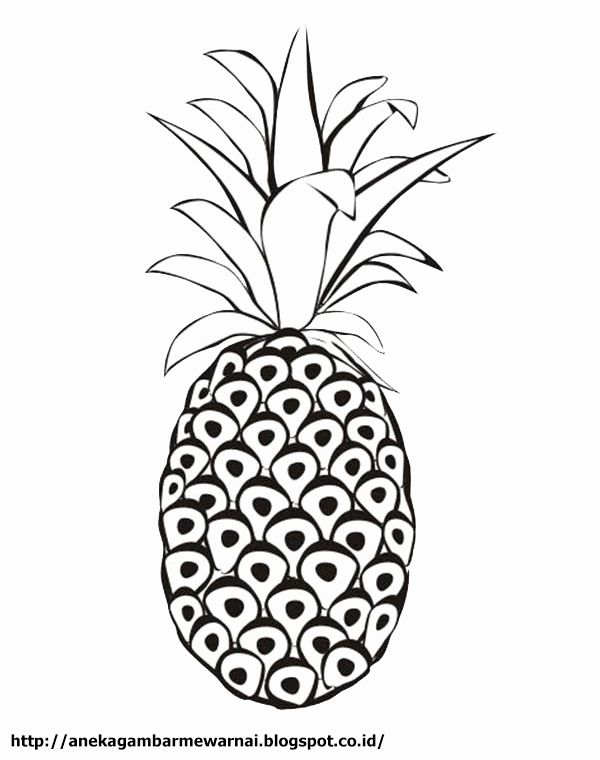 Cute Pineapple Coloring Page Lovely Aneka Gambar Mewarnai Gambar Mewarnai Buah Nanas Untuk In 2020 Coloring Pages Online Coloring Pages Rose Coloring Pages
