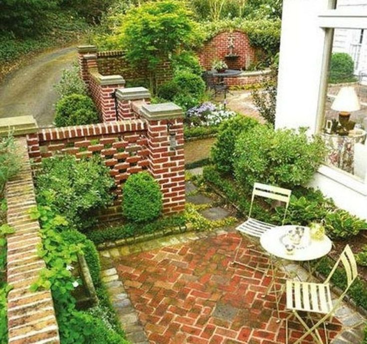 50 Cute Front Yard Courtyard Landscaping Ideas | Exterior ...