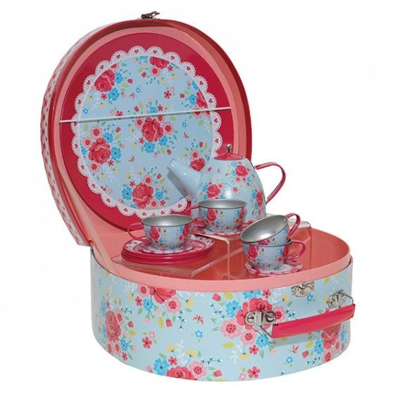 Tiger Tribe - English Rose Vintage Tea Set Need some practise to be the hostess with the mostess! ;) #Entropywishlist #pintowin