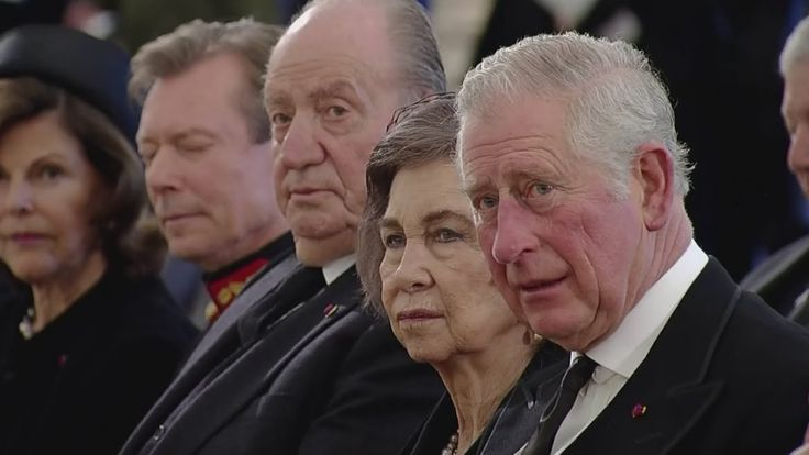 Prince Charles attends funeral of King Michael of Romania - YouTube