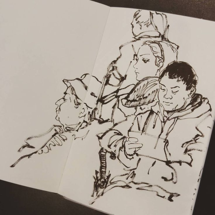 Starting out inktober with live sketch from NYC subway  #inktober #drawing #sketch #daily #morning #subway #nyc #art #sketchbook #ink #blackandwhite #그림 #잉크