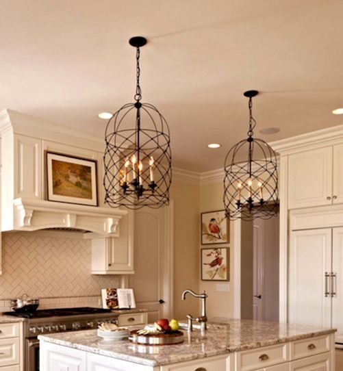 New Bronze Birdcage Chandelier Pendant Entry Foyer Island Kitchen Lantern Light #birdcage #birdcage_chandelier #tuscan #old_world #lantern #dining_room #wire_lantern #island_pendant #french_country #interior_design #lighting