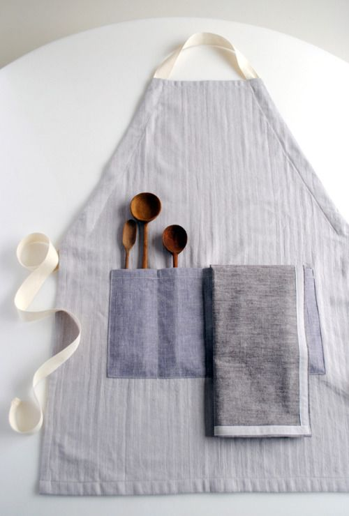 Molly's Sketchbook: A New Adjustable Unisex Apron and SimpleDishtowels - The Purl Bee - Knitting Crochet Sewing Embroidery Crafts Patterns and Ideas!