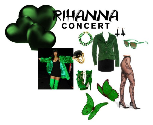 """""""Rihanna concert"""" by kellykalymnoskd ❤ liked on Polyvore featuring OROBLU, Alexander McQueen, Alice + Olivia, DOMINIQUE AURIENTIS, Valentin Magro, Chicnova Fashion and CÉLINE"""