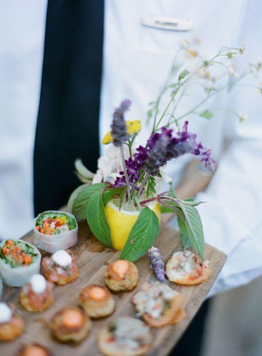 style me pretty - real wedding - usa - california - san ysidro ranch wedding - food & drink - food - appetizers
