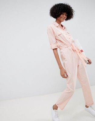 9147153092de DESIGN washed cotton boilersuit in 2019