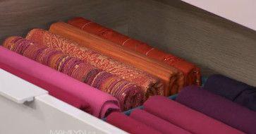 Scarves folded with Pliio - contemporary - closet organizers - toronto - Streamlife Ltd.