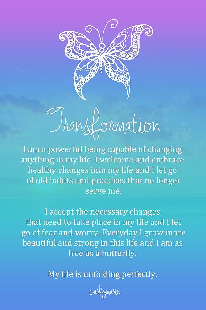 Affirmation - Transformation by CarlyMarie