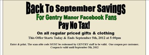 PAY NO TAX SALE for Facebook Fans
