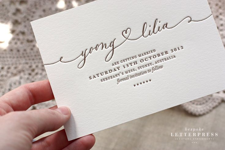 Simple elegance, save the date
