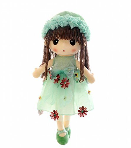 HWD Kawaii Flower Fairy Stuffed Soft Plush Toy Doll Girls Gift  18 Inch ( Green )