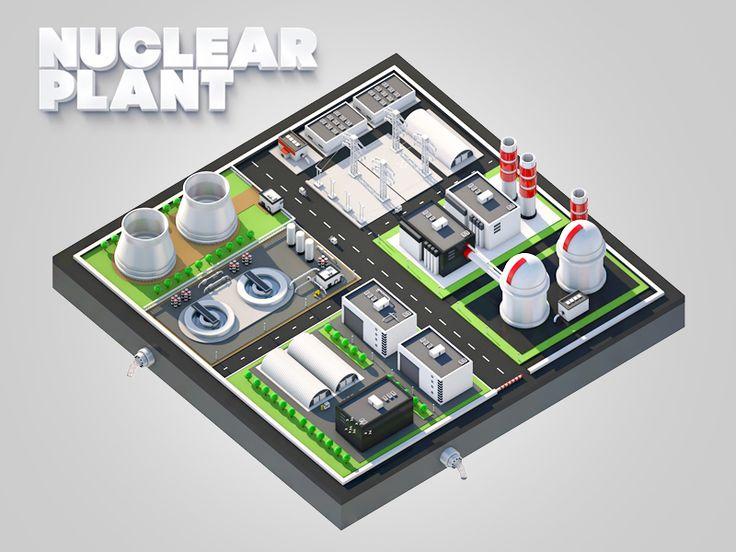 Nuclear plant station  by Leonid Nikolaev