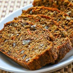 Kalyn's Kitchen: Recipe for Low-Sugar and Whole Wheat Garden Harvest Cake with Zucchini, Apple, and Carrot