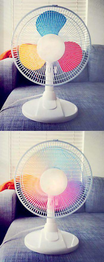 Pinte as hélices com as cores que você mais gosta e muda a cara do seu ventilador!