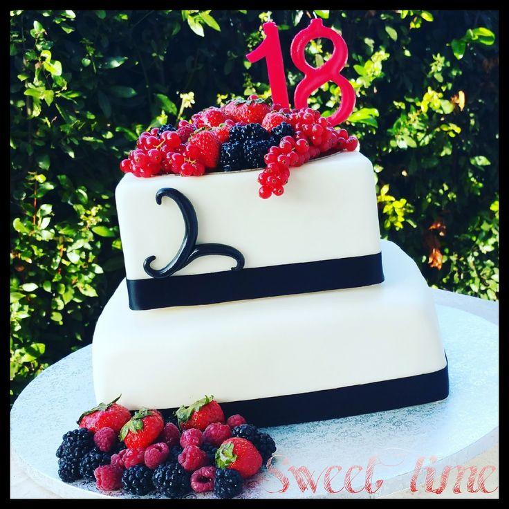 Sweet Time: Torta 18 anni con frutti di bosco