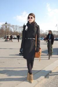 Какой платок подойдет к черному пальто фото