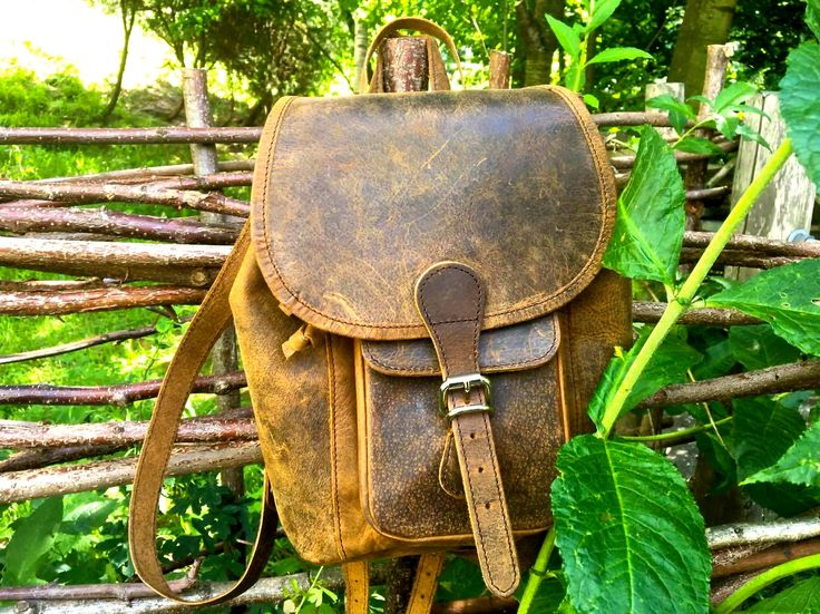 Boho Mini backpack, perfect for a long journey. #ontrend #leather #boho #vintage