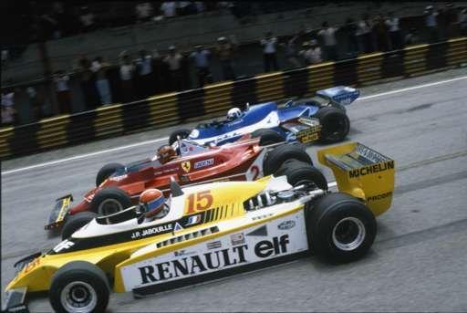 Jean-Pierre Jabouille, Gilles Villeneuve and Didier Pironi,