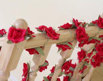 Paper garland, wedding garland, flower garland, wedding flower garland, paper flower decorations, paper flower garland