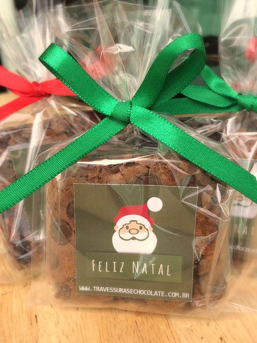 brownie natal individual presente