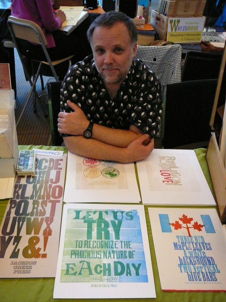 Jeff Macklin, Jackson Creek Press, Peterborough, Ont. Photo by Don McLeod.