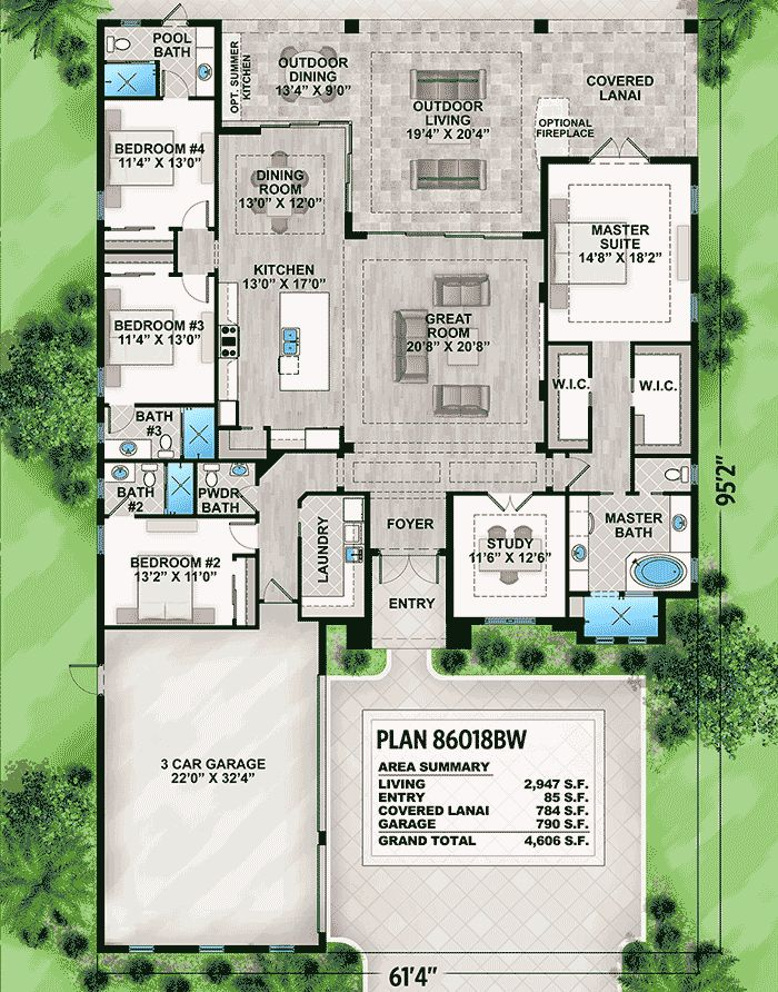 Plan 86018BW Striking Florida House Plan 2016