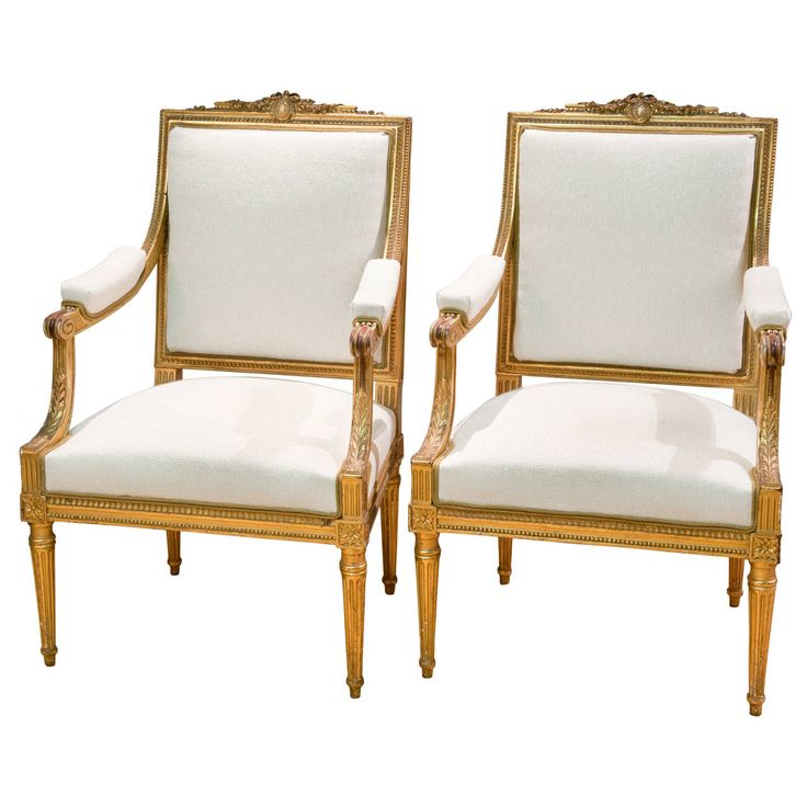 Pair of French Louis XVI Style Gilded Armchairs  circa 189095 best CHAIRS images on Pinterest   Armchairs  19th century and  . Louis Xvi Style Furniture For Sale. Home Design Ideas