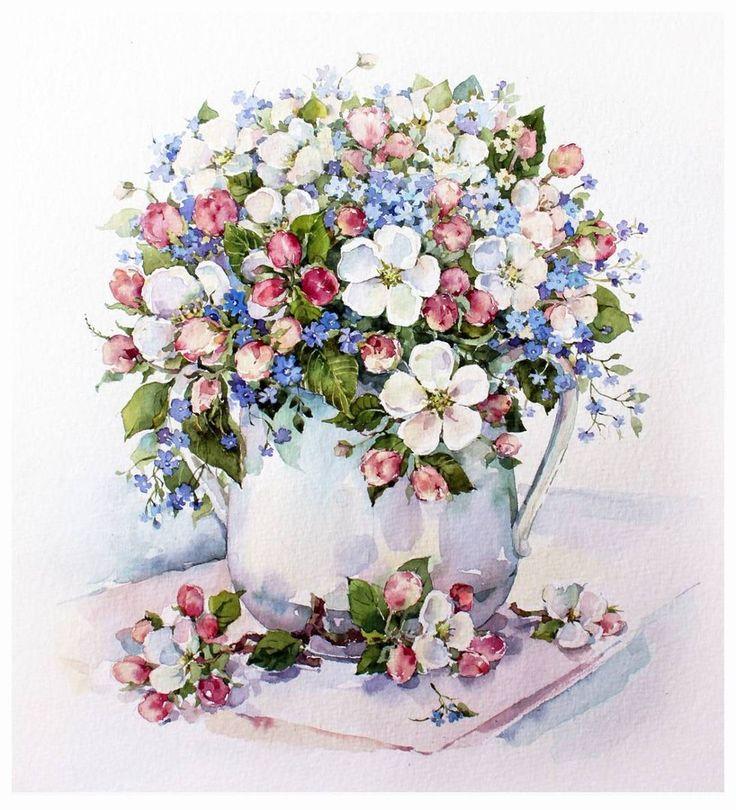 букеты цветов нежные рисунки фото