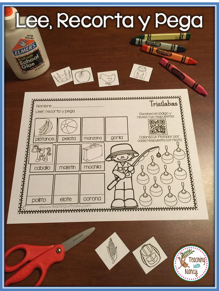 Do your students need additional practice reading two and three-syllable words in Spanish? Use these practice pages to build your students reading confidence. There are pictures to support students as they read words with all 5 vowels. Each page comes with a QR code scan and check feature that your students will love!