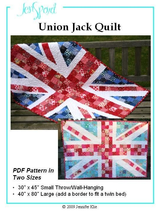 union jack love, draw on graph paper and make using granny squaqres !!