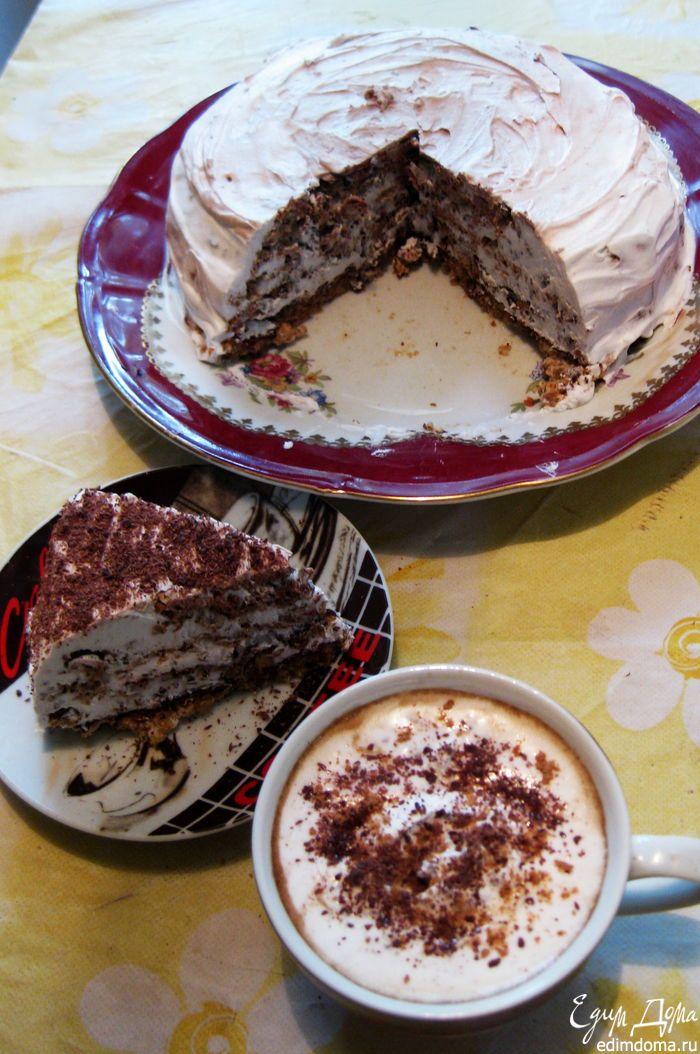 Хочу предложить вашему вниманию совсем не сложный, но безумно вкусный итальянский ореховый торт. Для меня на сегодняшний день, наверно, он самый вкусный. Когда его ешь, получаешь истинное наслаждение, восторг!!!!! Настолько он вкусный и нежный - просто бомба!!! Он практически без муки. Представляете,;на целый торт 1 чайная ложечка;Без масла, только натуральные сливки и, конечно, такие вкусные и полезные грецкие орехи. Попробуйте, печется на раз, но наслаждения от его поедания просто море....