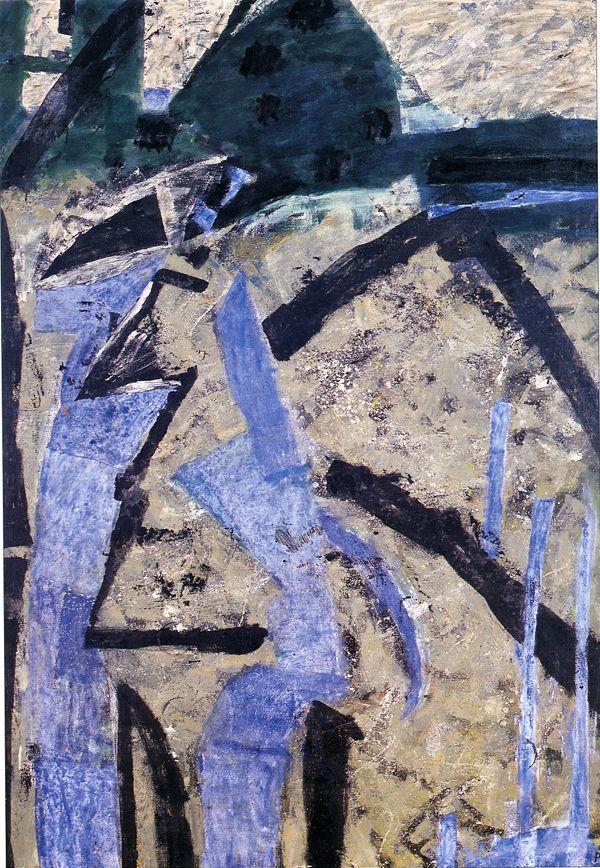'Wodospad w Nidzicy' (Waterfall In Nidzica) by Tadeusz Piotr Potworowski, 1960
