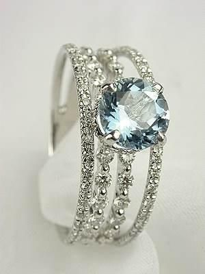 Ice Blue wedding ring...