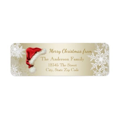 The 25+ best Santa address ideas on Pinterest Santas address - free christmas return address labels template