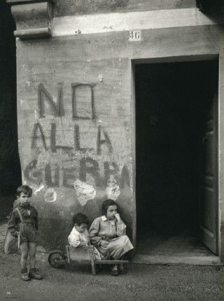 Werner Bischof, No War, Italy, 1950