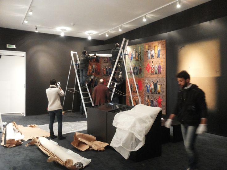 """Oggi è iniziato l'allestimento della mostra """"Grisha Bruskin. Alefbet: alfabeto della memoria"""". #grishabruskin #querinistampalia #exhibition #russianart #contemporaryart"""