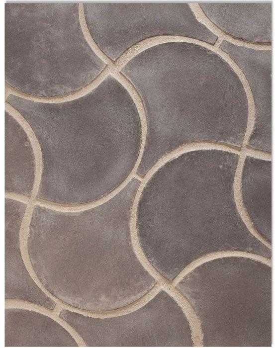 BB102_8''Conche_MoroccanPattern_CharcoalGray(premium series)Laticrete Grout Used:24 Natural Gray. www.artobrick.com